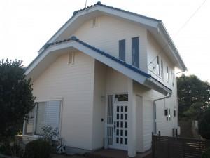 水戸市H様邸外壁塗装完成