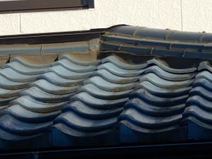水戸市セメント瓦屋根塗装前