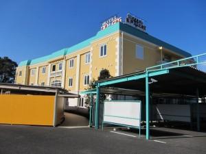 アミューズメントホテル 水戸ヒルズ様塗装完成