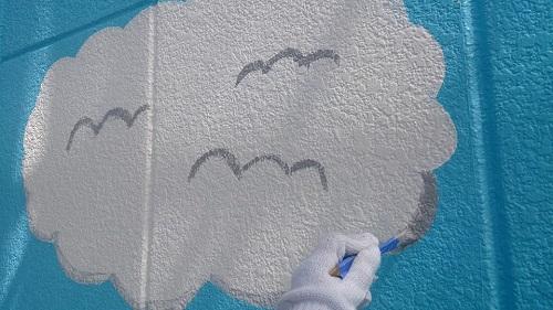外壁アート塗装