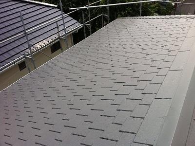 屋根塗装完成2