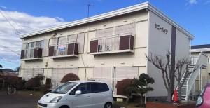 土浦市 アパートの外壁塗装 完成