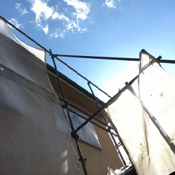 外壁塗装着工