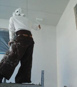 松戸市にて外壁塗装中