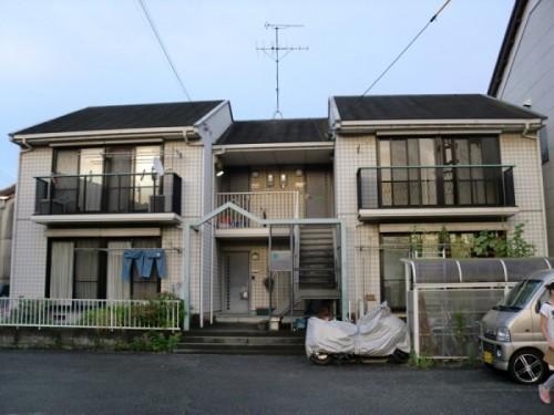 静岡市で行ったアパート外壁塗装の施工前
