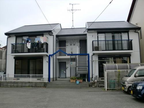 静岡市で行ったアパート外壁塗装の塗装完成