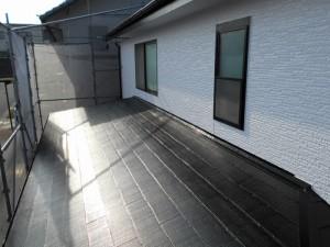 屋根塗装完成・多治見市