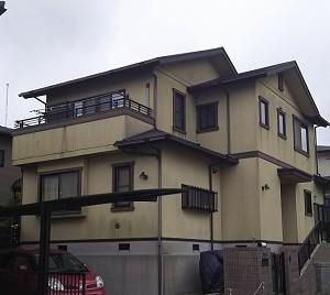 土浦市高津新町 M様邸外壁屋根塗装 施工前
