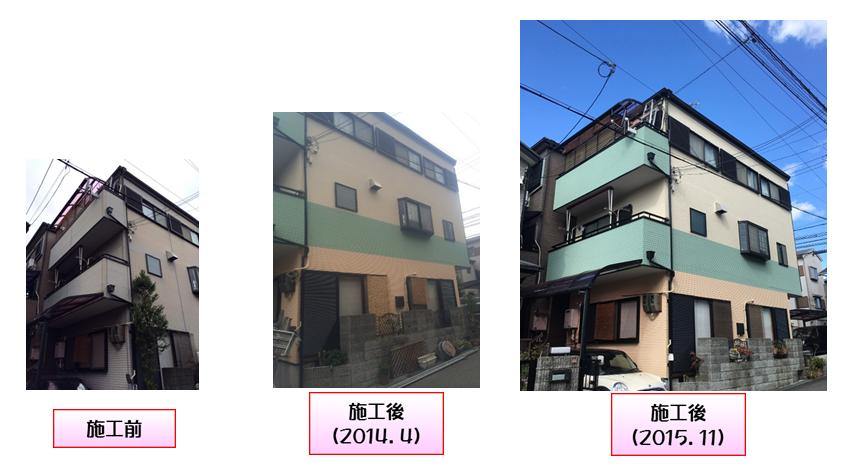豊中市の外壁塗装実績