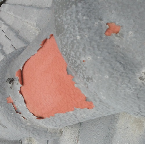 屋根の塗料の剥がれ