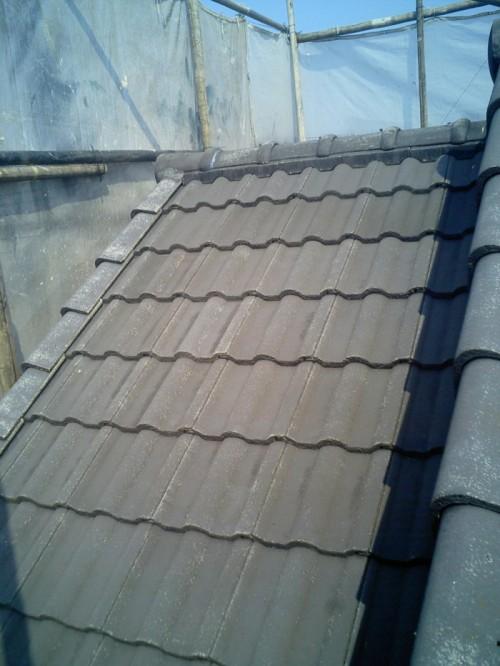 屋根:高圧洗浄後