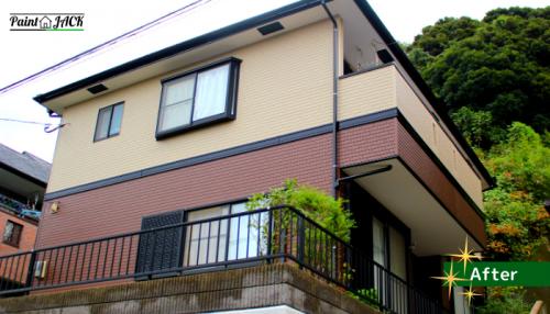外壁塗装完成 鹿児島市N様邸