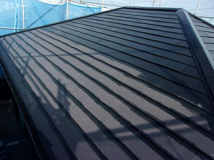 屋根の塗装2回目